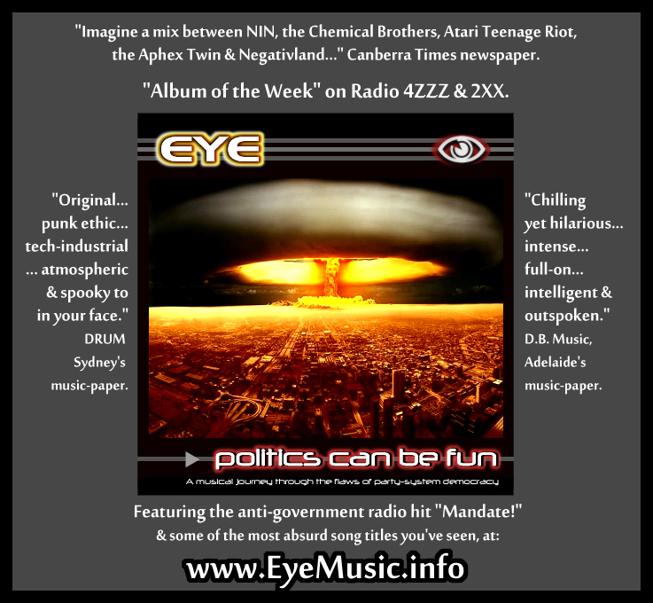 EYE-Politics-CD-Electro-Rock-Industrial-DarkWave-DancePunk-SynthPop-Music-Bands-Canberran-Australian