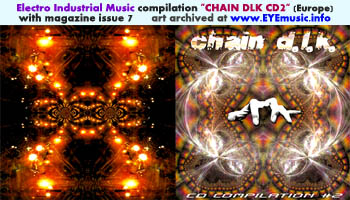 Chain DLK D.L.K. The Hell Key 1990s 2000s European Electro Industrial Dark Electronic Music Scene Magazine Issue 7 Compilation CD 2 Art Cover Jacket Artwork Italy Europe Editor Marc Urselli-Scharer Maurizio Pustianaz October 1999