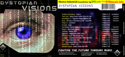 Dystopian Visions Metropolis Records American Record Label USA Underground CD compilation album art jacket cover 1990s 90s 00s 2000s Alternative electro industrial bands groups musicians music artists network USA UK Canada California Europe Australia