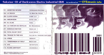 South America American Chile Chilean Record Label Fakxion Magazine Zine Records CD Compilation Album Art Cover 1990s 90s 00s 2000s Alternative Dark Electro Industrial Darkwave Goth Electronica Bands Groups Music Artists Scene Networks Collection