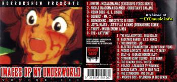 Horror Show Records Brisbane QLD Australia Record Label 1990s 90s alternative underground Australian Aussie bands groups musicians music artists EYE dogmachine voodoo lovecats Images of My Underworld CD compilation album Volume Vol III 3 art 1998