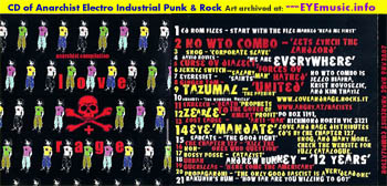 Love and & Rage Records Anarchist Music Compilation Album CD 1 Australia USA UK Europe Canada Underground Alternative Songs of Anarchy Electro Punk Industrial Rock Political Protest Music Record Labels Bands Musicians Artists Cover Art Jacket Projects 1990s 90s 00s 2000s