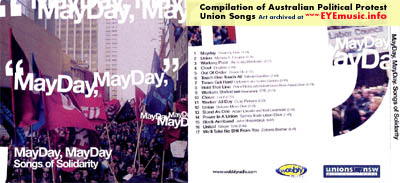 Compilation Album CD Art MayDay May Day Union Workers Songs of Solidarity Australian Left Wing Marxist Political Protest Social Justice Music Bands NSW Labor Council Wobbly Radio Record Label Cover Jacket Artists Groups Projects 1990s 90s 00s 2000s