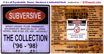 Subversive Records Melbourne Australian record label compilation CD 1990s 90s underground Australian Aussie Psychedelic Stoner Hardcore Heavy Metal Industrial Rock rock bands groups musicians music artists Album cover artwork jacket release