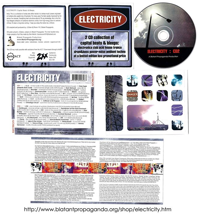 Electronic Music Compilation Cd